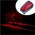 5 LED Bike Bicycle Laser Light Beam Rear Tail LED Light Lamp Safety Light