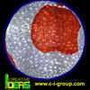 big 3d acrylic white ball
