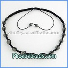 Trendy Shamballa Necklace Rhinestone Wrap High Quality Clay Crystal Ball Beaded Jewelry Wholesale (16Colors)PSN14-6