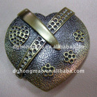 heart shape alloy belt buckle