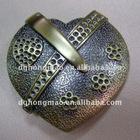 heart shape alloy belt buckle