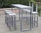 PP plastic sheet Outdoor bar table, with bar chairs