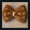brown foam bow flower with flower rhinestone