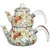 ZH0918E Enamel Teapot