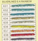 Silver lined square hole rainbow jewelry beads wholesale