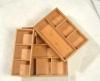 3 pcs Bamboo drawer organizer set