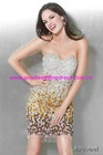 2012 New Style Sweetheart Sheath Crystal Beads Short Mini Prom Dress