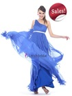 One Shoulder Royal Blue Evening Dress