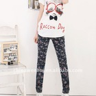 ladies' fashion skinny jeans with roses