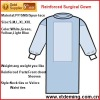 Disposable Non-woven Reinforced Isolation Gown with Long Sleeves