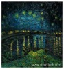 Rep Oil Painting Van Gogh Starry Night Over the Rhone