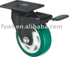 Industrial PU Caster Wheel With Brake