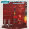 clear wine bottle acrylic plastic stand