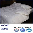 YAGAO 100%Cotton 400TC White Duck Down Duvet, WDD90