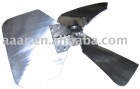 Three wide blade high efficiency impeller
