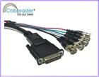 SVGA / VGA to TV Cable, BNC VGA Cable, HD15 M / 5XBNC male PVC Jacket 24K Gold plated 15 pins