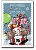 Warmly hot stamping artwork handmade christmas paper greeting card
