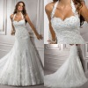 BW110 Sexy luxury detachable halter full lace mermaid wedding dresses 2012/designer bridal gowns