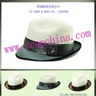 men's two tones banded fedora hat ccap-6787