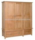 Triplicate Solid Oak Wardrobe