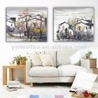 country design oil painting wall art & group oil painting & canvas oil painting & oil painting on canvas