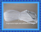 Braided rope for boat fittings