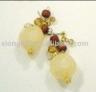 YELLOW FASHION CRYSTAL EARRING