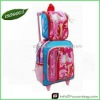 pink trolley school bag for girls