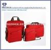 Red leisure shoulder laptop bag