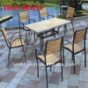 Wooden cafe furniture of Furnitureoutdoor rattan dining table chairs (1063#-6063#)