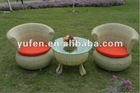 stylish synthetic rattan garden set