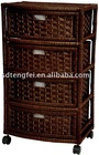 Natural Fiber Chest of Drawers-Four Drawer