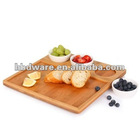 Wooden multipurpose tray with ceramic bowls