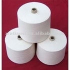 Ne14-40 optical white virgin viscose/polyester 40/60 knitting yarn