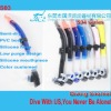 Half dry swimming snorkel,professional china snorkelling set