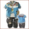 3pcs 100% Cotton boy winter clothing sets