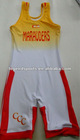 001 AS White Westling Singlet