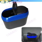 Convenient Car Garbage Can/Trash Can/Dust Bin, Black Blue