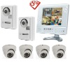 Combo LCD video door phone DVR