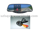3.5'' Car rear view mirror with reversing camera