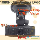 1.5 Inch LCD 1080P Car Camera DVR With GPS Logger / IR Night Vision