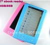 "7"" Ebook Reader TTS 4GB 480*800 Pixels +2400Mah Battery 720P Mp4 player digital photo frame"