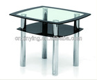 Corner glass coffee table TC-004-2