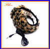 2012 warm fur 3.5mm connector ear shaped headphones