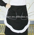 100% cotton short plain waist apron with pocket