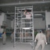 mobile aluminium scaffold ladder-double master