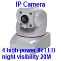 Hi-tech Cute Indoor HD Wireless IP Camera (4 High Power IR LED )