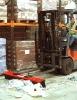 Forklift Truck Street Sweeper
