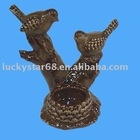 clay bird statue,home decoration