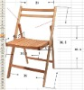 solid wood outside chair